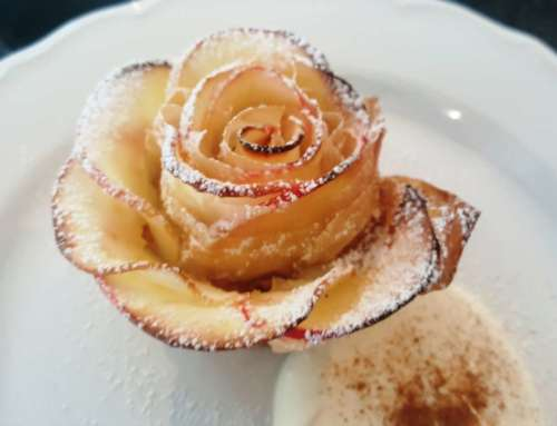 Filo Apple Roses – a glamorous light winter dessert
