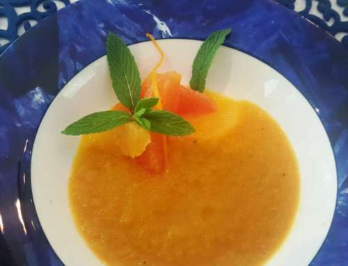 Carrot Soup with Citrus Salad