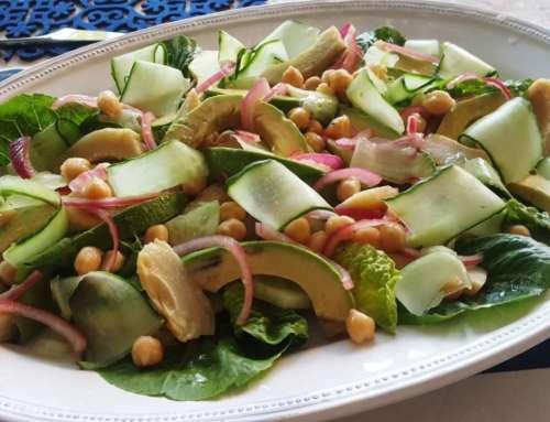 Artichoke, Avo & Chick Pea Salad
