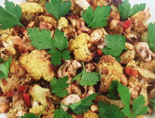 Roasted Indian Cauliflower with Cashews