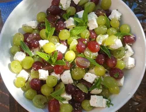 Grapes with Feta and Mint