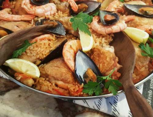 Spanish Paella, a delicious one pot meal