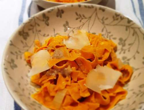 A Venetian Pasta Speciality – Bigoli with onion and anchovy salsa