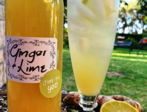 Ginger & Lime (or lemon) Cordial