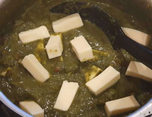 Palak Paneer (Indian Spinach Sauce with Cheese)