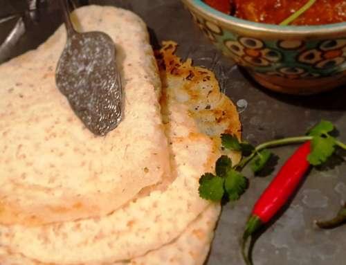 Appam, a rice flour pancake from Kerala