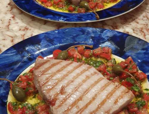 Grilled Tuna Steak with Sauce Vierge