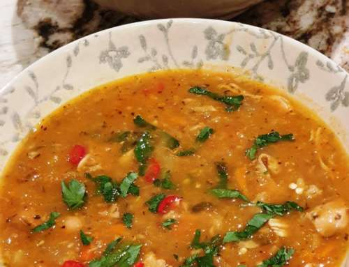 Moroccan Chicken Soup with Golden Vegetables