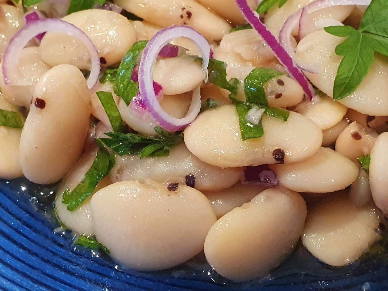 The plain bean salad without the optional additives