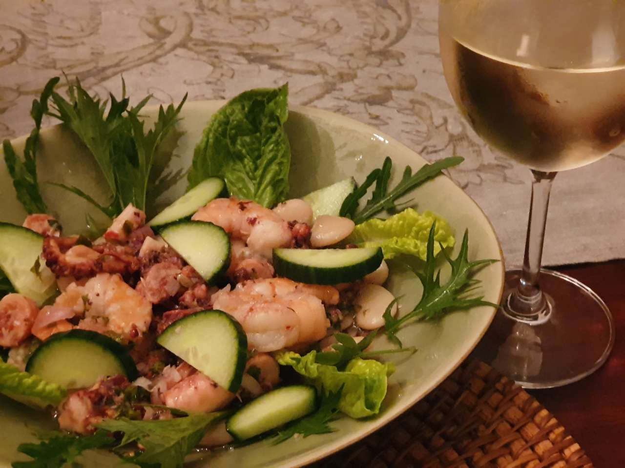 Octopus and Prawn Salad
