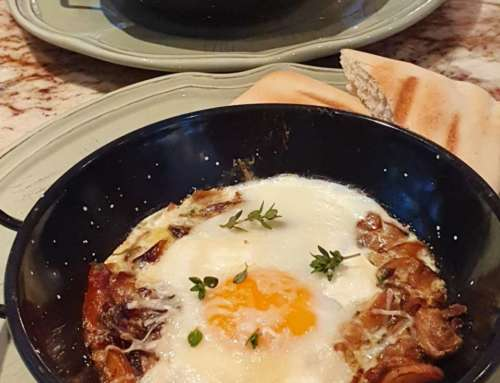 Baked Eggs with Porcini Mushrooms