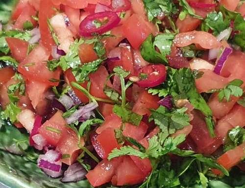 Mexican Pico De Gallo  ~  Indian Tomato and Onion Sambal  ~ Spicy Tomato Salad