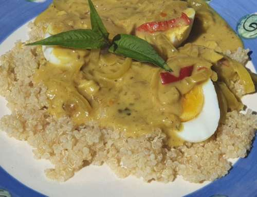 Curried eggs – use the left over pickled fish sauce
