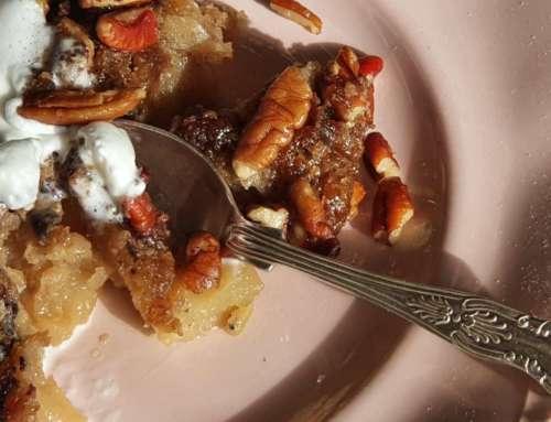 Apple and Pecan Bake for Dessert or Breakfast