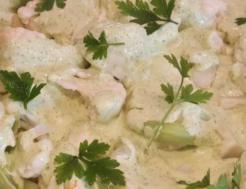 Cauliflower with Lime & Coriander Dressing